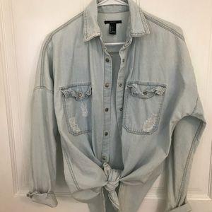 Oversized Denim Boyfriend Shirt